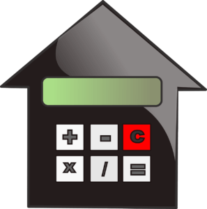 calculator signs on a House icon